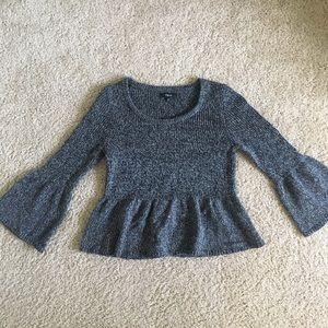 Express medium merino wool peplum sweater